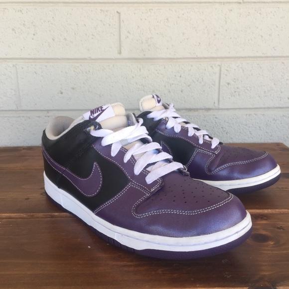 new concept c960e 21bb1 Nike Dunk Low Purple and Black Women Sz 12/ Men 10